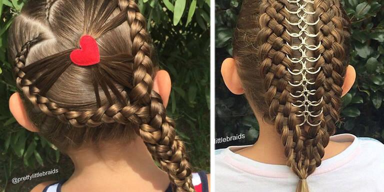 Shelley Giffordaus Melbourne, Australien wurde mit den komplizierten Frisuren, die sie ihrer kleinen Tochter Grace kunstvoll flechtet und hochsteckt, über Nacht zum Internetstar.