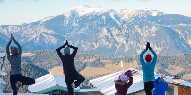 Yoga im Schnee