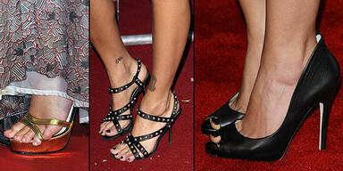 Stars und ihre Schuhprobleme