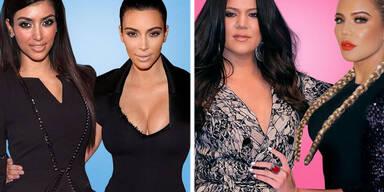 Der Künstler hinter dem Instagram-Account Saint Hoax zeigt mit einer Gegenüberstellung, wie sehr sich die Kardashian-Schwestern im Laufe der Zeit verändert haben.