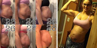 Diese amerikanische Sportlerin hat trotz Babybauch noch definierte Bauchmuskeln!