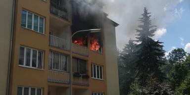 Spektakulärer Zimmerbrand in Wien
