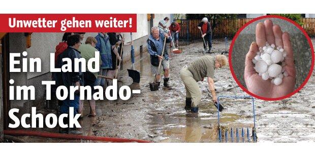 Im Tornado-Schock: Mehr Unwetter drohen