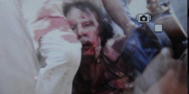 Gaddafi starb nach 9 mm-Kopfschuss