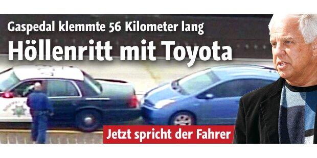 Toyota-Gaspedal klemmte 56 km lang