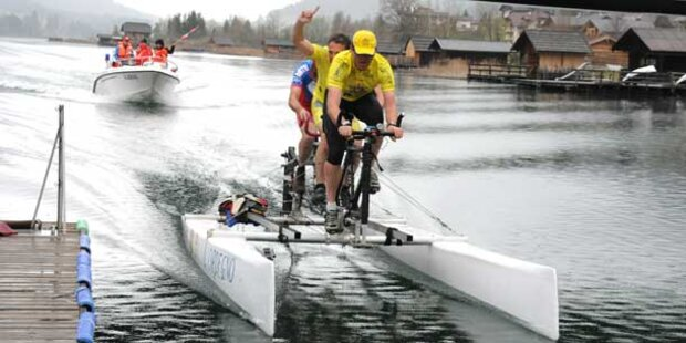 Tretboot-Weltrekord in Kärnten