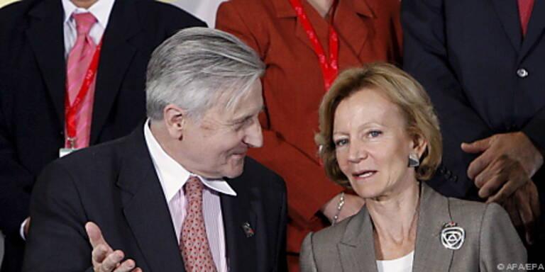 Trichet und Spaniens Finanzministerin Salgado