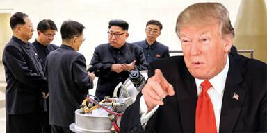 Trump Kim Jong-Un Atomkrieg