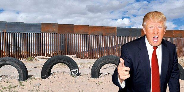 Trump fordert Entwürfe für Mauer