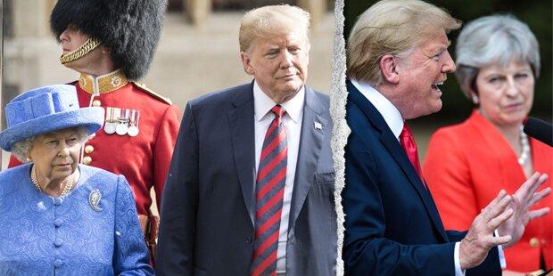 Trumps irrer England-Trip: Tee mit Queen, May beleidigt