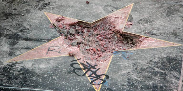 Trumps Hollywood-Stern schon wieder zertrümmert