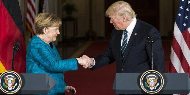Hatte Trump bei Merkel-Besuch