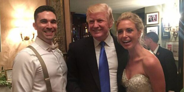 Donald Trump machte den Hochzeitscrasher