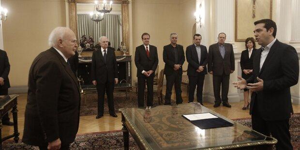 Athen: Tsipras als neuer Premier angelobt