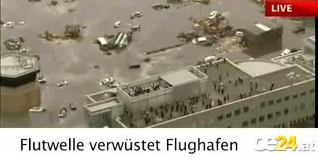 Flutwelle verwüstet Flughafen