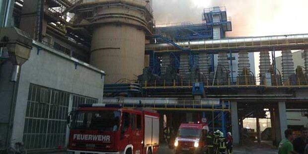 Brand in Zuckerfabrik Tulln