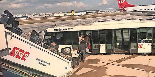 Blitz traf Turkish Airlines nach Wien