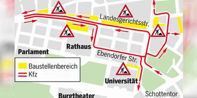 U2/U5-Bauprojekt: Ab heute Stau-Alarm in Wien   Zweierlinie gesperrt