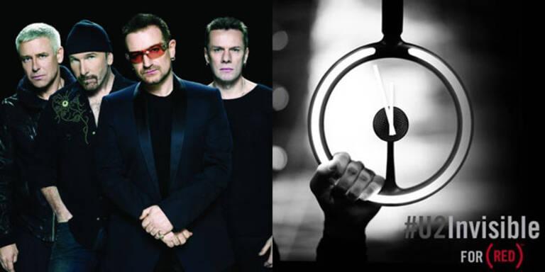 """U2 stellen in der Nacht auf Sonntag in der Werbepause des Super Bowl ihren neuen Song """"Invisible"""" als Teil einer weltweiten Anti-Aids-Kampagne vor. Anschließend wird der Track ab 0.00 Uhr MEZ für insgesamt 24 Stunden bei iTunes zum kostenlosen Download bereitgestellt."""