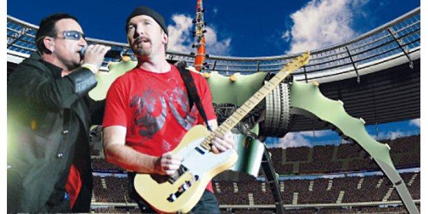U2 starten ihre Tour in Barcelona