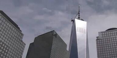 One World Trade Center heult im Wind