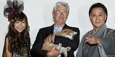 US-Star mit Hund Hachiko bei Filmfestival in Rom