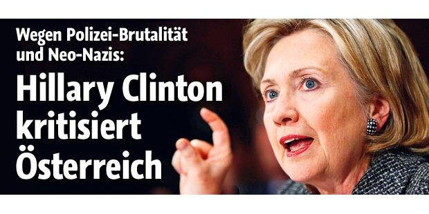 Hillary Clinton kritisiert Österreich
