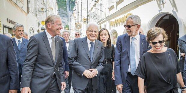 Zwei Präsidenten auf Altstadtrundgang