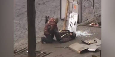 Brutales Schieß-Video aus Kiew