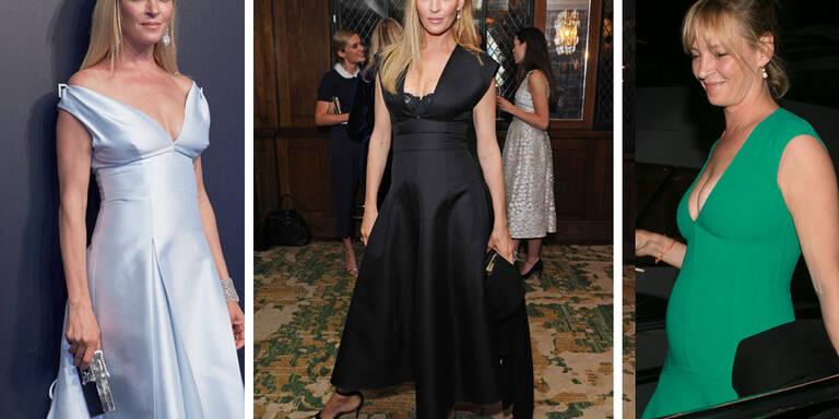 Präsentiert uns die schöne Schauspielerin hier etwa Schwangerschafts-Styles?