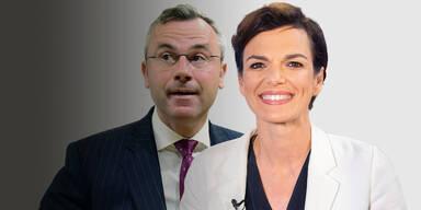 Umfrage: FPÖ verliert nach Streit, SPÖ legt zu