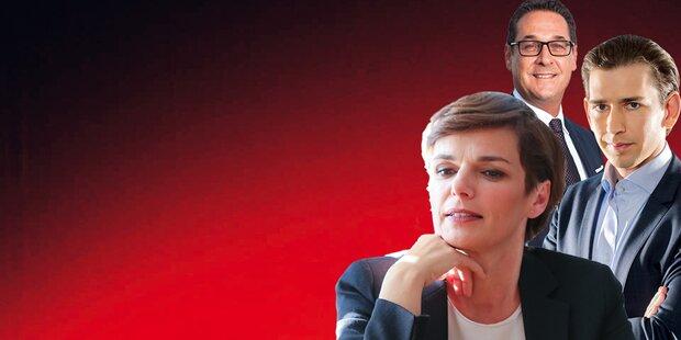 Umfrage-Beben: FPÖ holt SPÖ ein