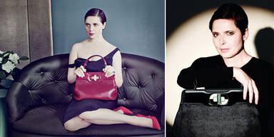 Isabella Rossellini entwirft Handtaschen für Bulgari