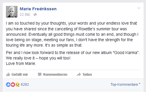 Roxette: Marie Fredriksson
