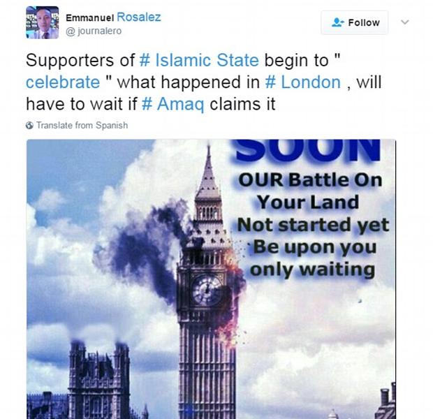 ISIS feiert Loindon terror