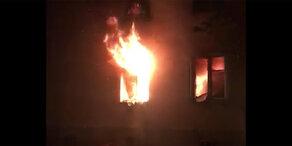 Feuer-Inferno in Wien-Penzing
