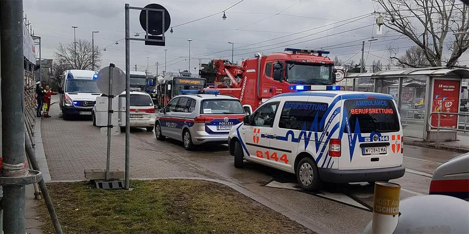 Wiener Linien Bus Unfall Donaustadt