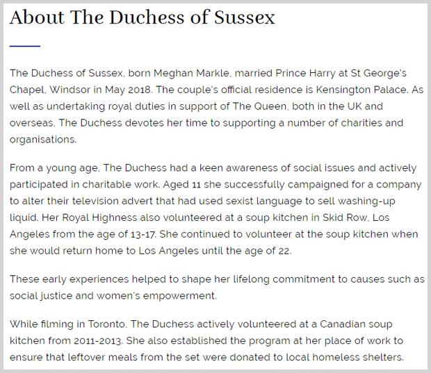 Duchess Sussex Meghan mit Rahmen