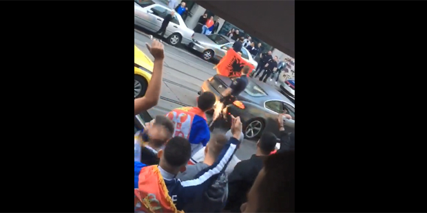 Serbien Serben Fans Ottakring