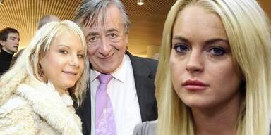 """Katzi"" Anastasia Sokol, Richard Lugner, Lindsay Lohan"