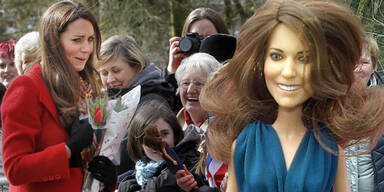Kate schockiert über ihre Plastikpuppe