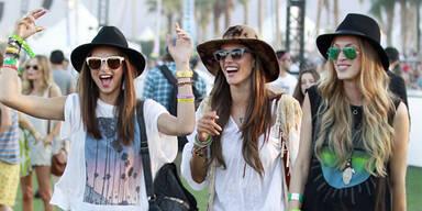 Star-Looks beim Coachella Festival 2013