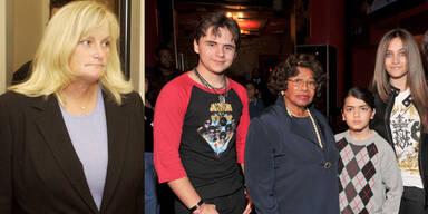 Debbie Rowe; Katherine Jackson mit Prince, Blanket & Paris