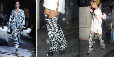 Rihannas festes Schuhwerk für Regentage