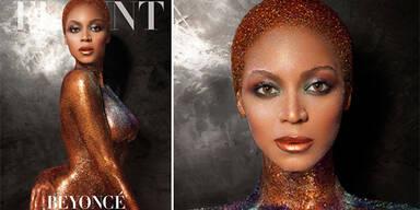 Beyoncé funkelt nur mit Bodypainting