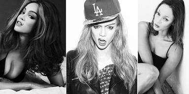 Tyra Banks posiert als berühmte Topmodels
