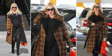 Gwen Stefani top gestylt mit Babykugel