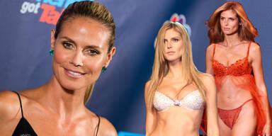 """1997 unterschrieb Klum ihren ersten Vertrag bei dem Lingerie-Riesen Victoria's Secret. Von da an ging es steil bergauf: 1999 bekam sie den """"Engel""""-Vertrag und wurde zum wichtigsten Aushängeschild der Firma. Im Laufe der Jahre durfte sie bei drei Shows (1999, 2001 und 2003) den berühmten, Millionen teuren """"Fantasy Bra"""" präsentieren."""