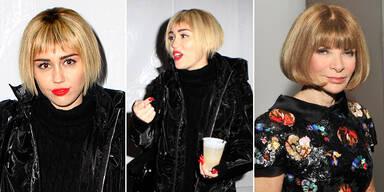 Miley Cyrus zeigt sich mit Wintour-Look
