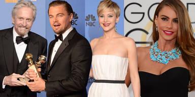 Golden Globes: Michael Douglas, Leo DiCaprio, Jennifer Lawrence, Sofia Vergara